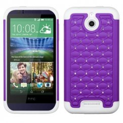 HTC Desire 510 Purple/Solid White FullStar Case