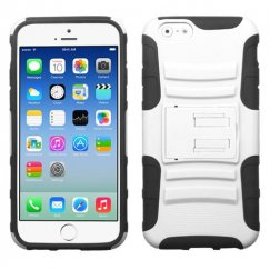 Apple iPhone 6/6s White/Black Advanced Armor Stand Case