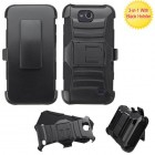 ZTE Maven / Overture 2 / Fanfare Black/Black Advanced Armor Stand Case with Black Holster