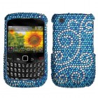 Blackberry 9300 Curve Flourish Diamante Protector Cover