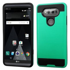 LG V20 Green/Black Brushed Hybrid Case