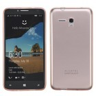 Alcatel One Touch Fierce XL Glossy Transparent Rose Gold Candy Skin Cover