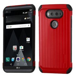 LG V20 Red/Black Suitcase Hybrid Case