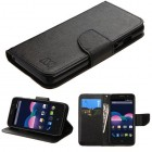 ZTE Obsidian Black Pattern/Black Liner wallet with Card Slot