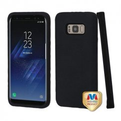 Samsung Galaxy S8 Plus Rubberized Black/Black Hybrid Case
