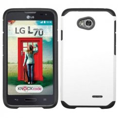 LG Optimus L70 White/Black Astronoot Case