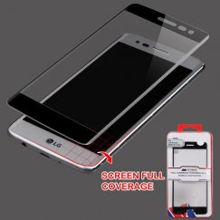 LG K8 / Phoenix 3 Full Coverage Tempered Glass Screen Protector/Black