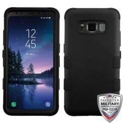 Samsung Galaxy S8 Active Rubberized Black/Black Hybrid Case Military Grade