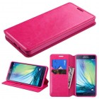 Samsung Galaxy A7 Hot Pink Wallet with Tray
