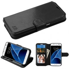 Samsung Galaxy S7 Black Wallet with Tray