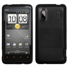 HTC Hero Transparent Clear/Solid Black Gummy Cover