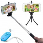 3-In-1 Selfie Package(Monopod Tripod Stand Blue/Tropical Selfie Stick)