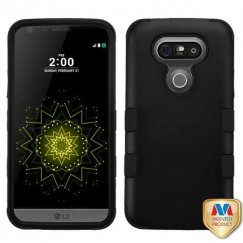 LG G5 Rubberized Black/Black Hybrid Case