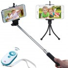 3-In-1 Selfie Package(Monopod Tripod Stand White/Tropical Selfie Stick)