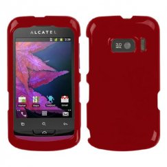 Alcatel One Touch 918 Solid Red Case