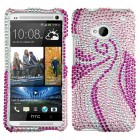 HTC One M7 Phoenix Tail Diamante Case