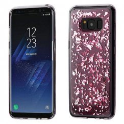 Samsung Galaxy S8 Plus Silver Flakes (T-Pink) Krystal Gel Series Candy Skin Cover