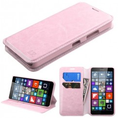 Nokia Lumia 640 Pink Wallet with Tray