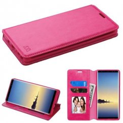 Samsung Galaxy Note 8 Hot Pink Wallet with Tray