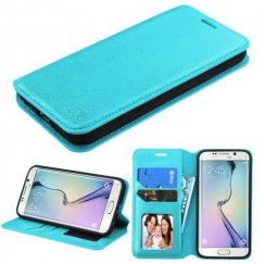 Samsung Galaxy S6 Edge Blue Wallet with Tray