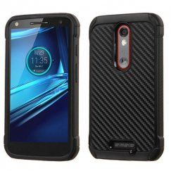 Motorola Droid Turbo 2 Carbon-Fiber Backing/Black Astronoot Case
