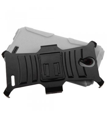 Black/Gray Advanced Armor Stand Case Combo with Black Holster