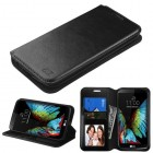 LG K10 Black Wallet with Tray