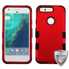 Google Pixel Titanium Red/Black Hybrid Case - Military Grade