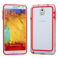 Samsung Galaxy Note 3 Red/Transparent Clear Case