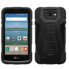 LG Optimus Zone 3 / Spree Black Inverse Advanced Armor Stand Case