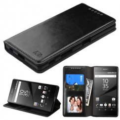 Sony Xperia Z5 Black Wallet with Tray
