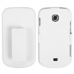 Samsung Galaxy Stellar SCH-i200 Rubberized Solid Ivory White Hybrid Holster