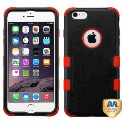 Apple iPhone 6/6s Plus Natural Black/Red Hybrid Case