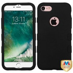 Apple iPhone 7 Rubberized Black/Black Hybrid Case