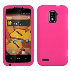 ZTE Warp 4G Solid Skin Cover - Hot Pink