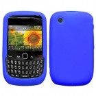 Blackberry 9300 Curve Solid Skin Cover (Electric Blue)