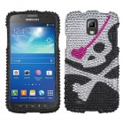 Samsung Galaxy S4 Active SGH-i537 Skull Diamante Case