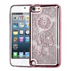 Apple iPod Touch (6th Generation) Rose Gold Electroplating/Dreamcatcher/Silver Quicksand Glitter Hybrid Case