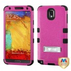 Samsung Galaxy Note 3 Natural Hot Pink/Black Hybrid Case with Stand
