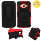 Samsung Galaxy J2 Black/Red Advanced Armor Stand Protector Cover (With Black Holster)