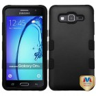 Samsung Galaxy On5 Rubberized Black/Black Hybrid Phone Protector Cover