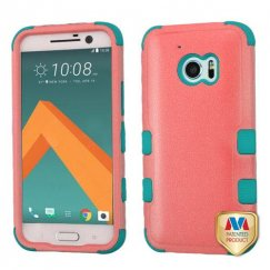 HTC 10 Natural Baby Red/Tropical Teal Hybrid Case