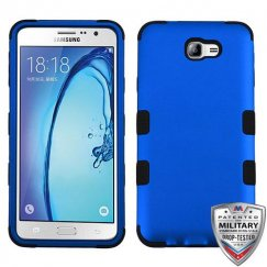 Samsung Galaxy On7 Titanium Dark Blue/Black Hybrid Case Military Grade