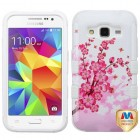 Samsung Galaxy Core Prime Spring Flowers/Solid White Hybrid Phone Protector Cover