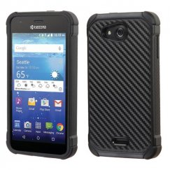 Kyocera Wave / Hydro Air Carbon-Fiber Backing/Black Astronoot Case