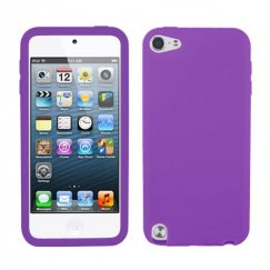 Apple iPod Touch (5th Generation) Solid Skin Cover - Electric Purple