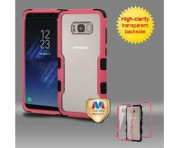 Samsung Galaxy S8 Plus Natural Pink Frame????? PC Back/Black Vivid Hybrid Protector Cover