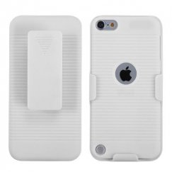 Apple iPod Touch (5th Generation) Rubberized Solid Ivory White Hybrid Holster