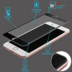 Apple iPhone 6/6s 3D Curved Edge Titanium Alloy Tempered Glass Screen Protector/Black