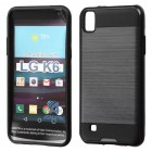 LG X Power / K6 Black/Black Brushed Hybrid Case